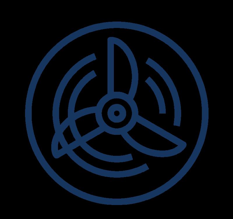 VAN 560÷1000 – Ventilatoare axiale navale